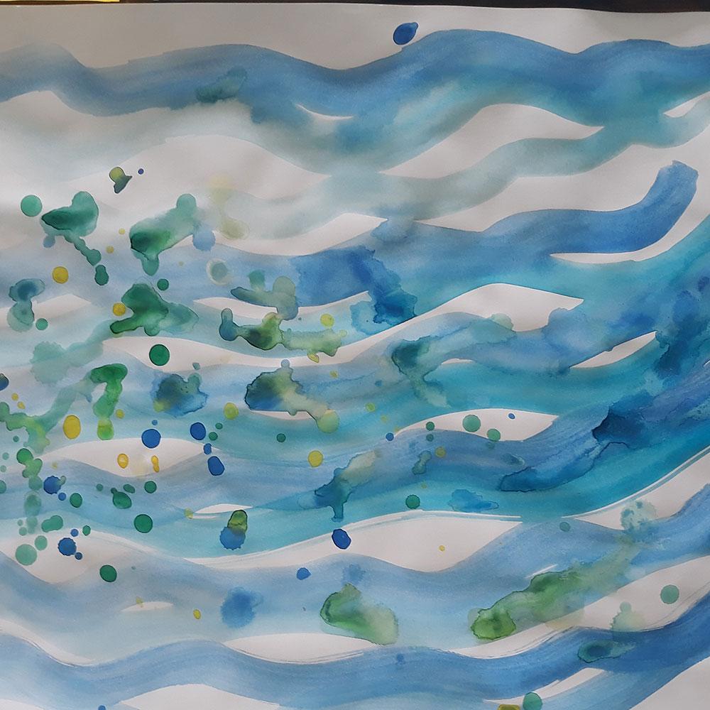 Disegno di Arteterapia onde del mare