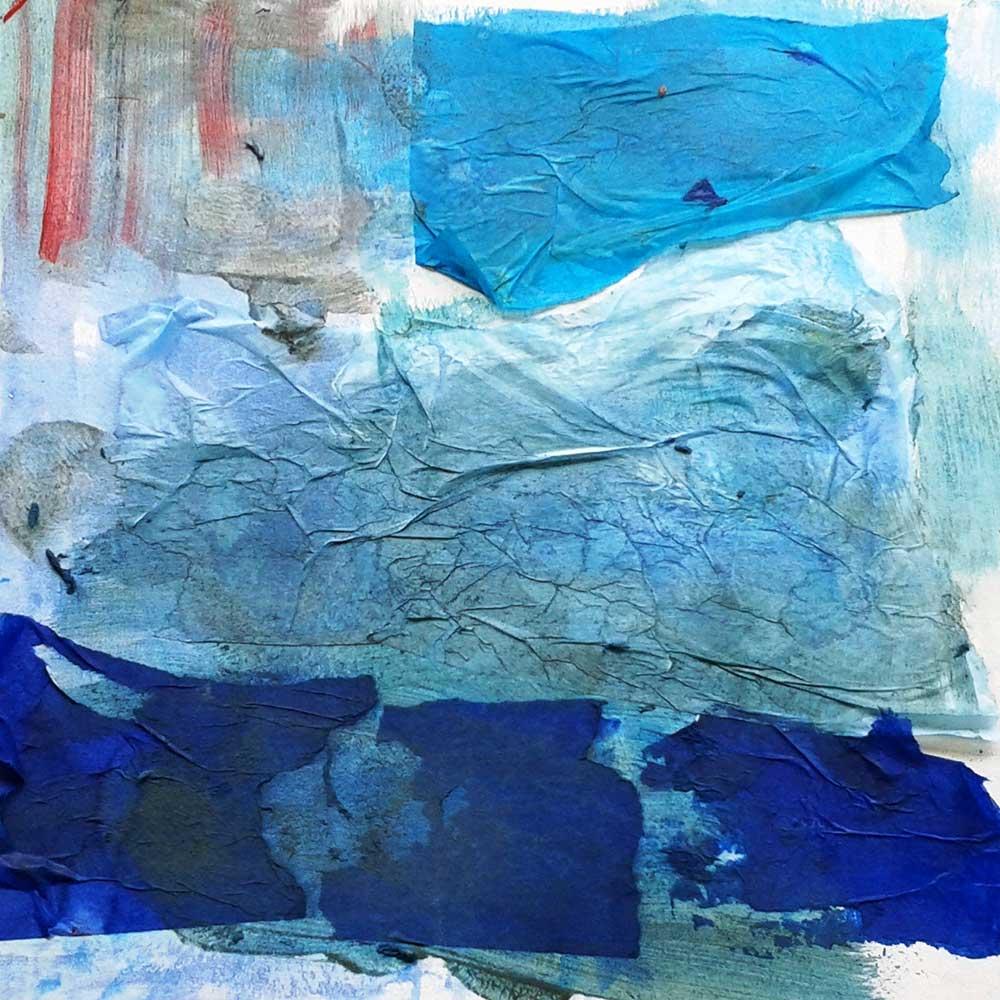 Disegno astratto azzurro di Arteterapia